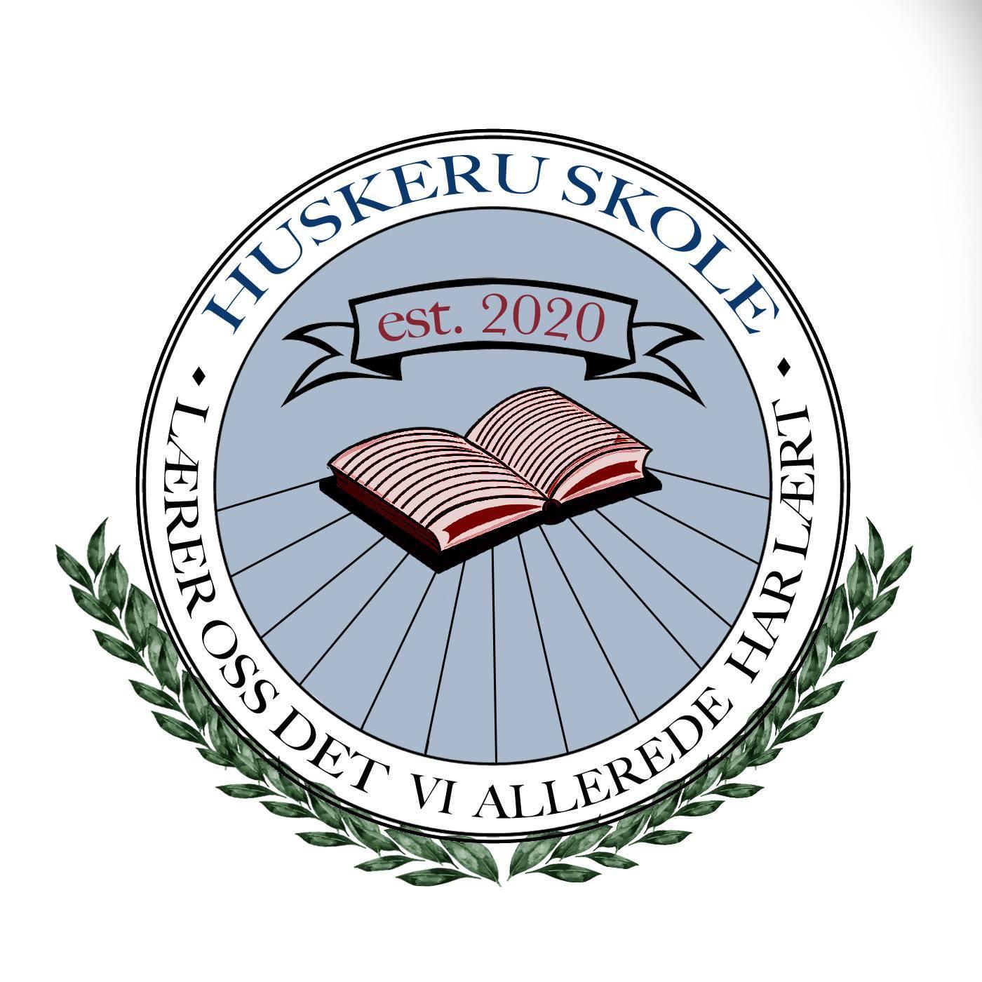 huskeru skole logo
